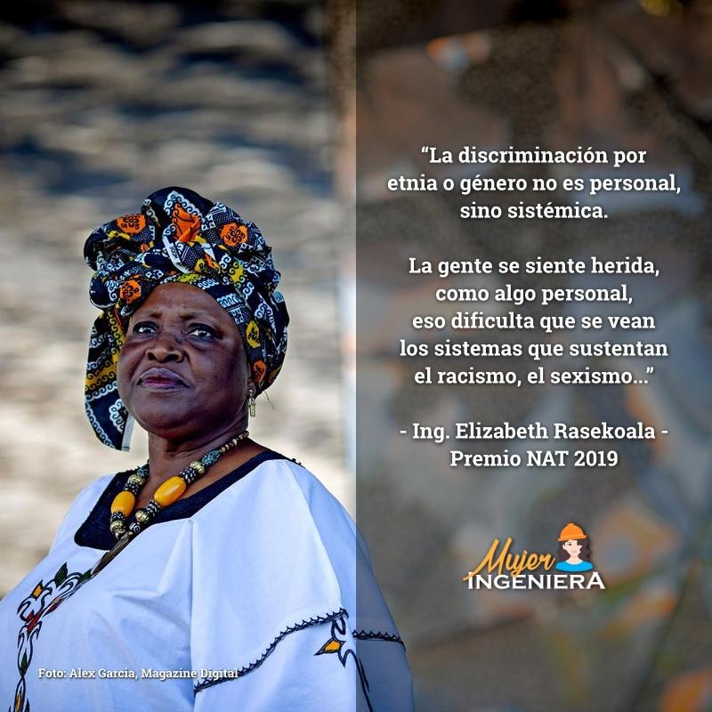 Elizabeth Rasekoala, ingeniera química