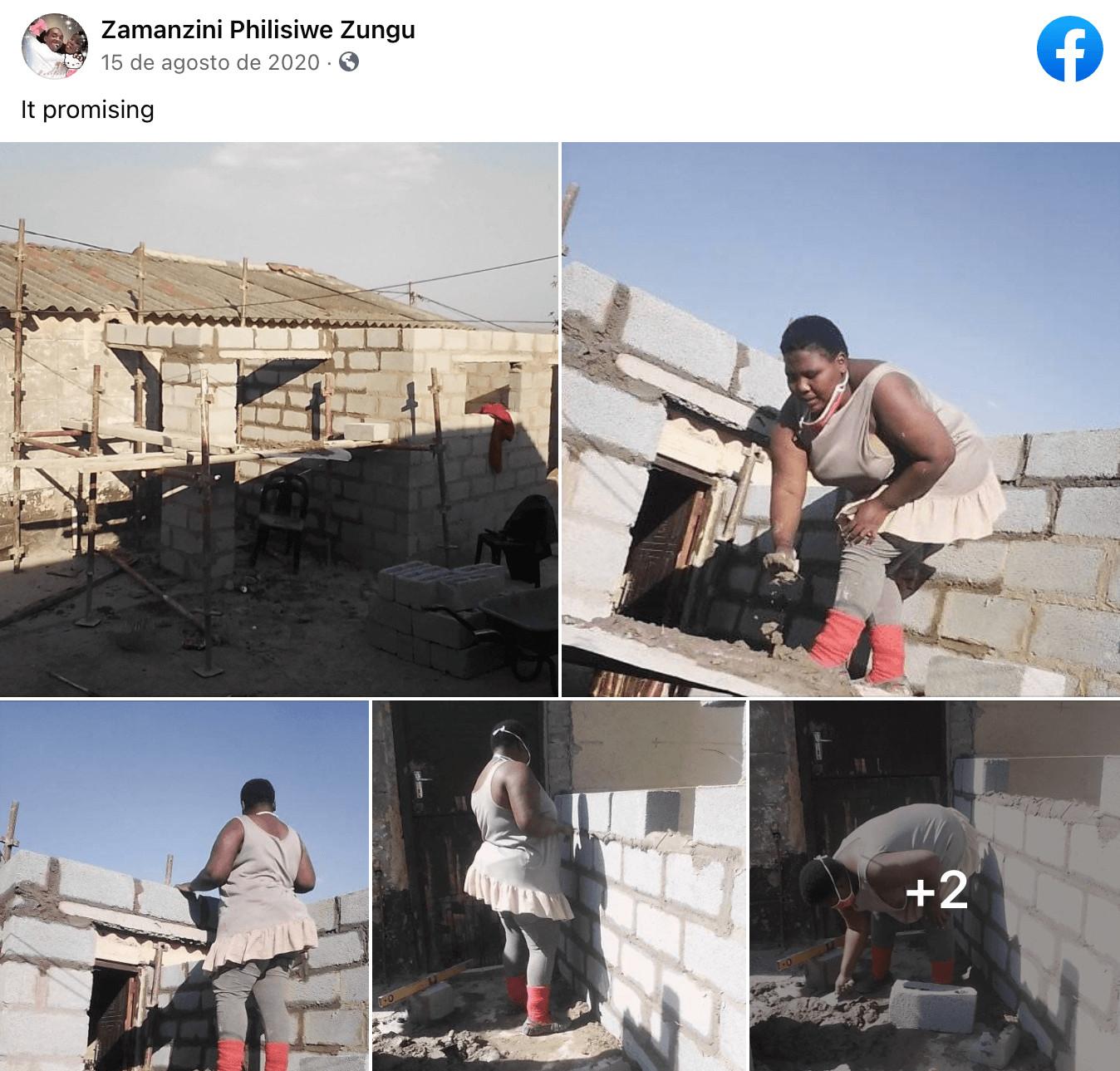 Mujer construyó su propia casa, siempre quiso ser Ingeniera Civil
